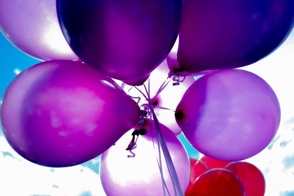 Balloner der får humøret til vejrs